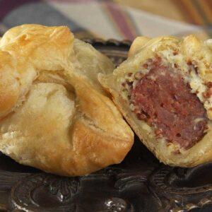 Fox River Dairy Kabobs andouille sausage en croute